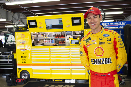 July 21, 2018 - Loudon, New Hampshire, USA: Joey Logano (22) gets ready to practice for the Foxwoods Resort Casino 301 at New Hampshire Motor Speedway in Loudon, New Hampshire.
