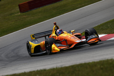 July 27, 2018 - Lexington, Ohio, USA: ZACH VEACH (26) of the United Stated takes to the track to practice for the Honda Indy 200 at Mid-Ohio Sports Car Course in Lexington, Ohio.