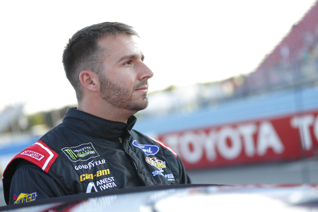 August 04, 2018 - Watkins Glen , New York, USA: Matt DiBenedetto (32) hangs out on pit road before qualifying for the Go Bowling at The Glen at Watkins Glen International in Watkins Glen , New York.