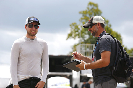 August 10, 2018 - Lexington, Ohio, USA: Chase Briscoe (60) gets ready to practice for the Rock N Roll Tequila 170 at Mid-Ohio Sports Car Course in Lexington, Ohio. Sajtókép