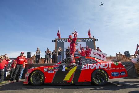 August 11, 2018 - Lexington, Ohio, USA: Justin Allgaier (7) wins the Rock N Roll Tequila 170 at Mid-Ohio Sports Car Course in Lexington, Ohio.