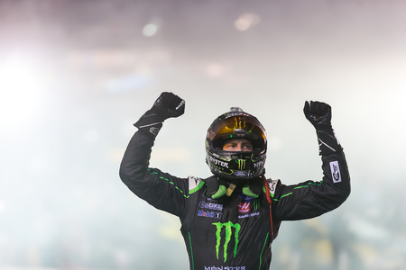 August 18, 2018 - Bristol, Tennessee, USA: Kurt Busch (41) celebrates his 6th victory  at the Food City 300 at Bristol Motor Speedway in Bristol, Tennessee.