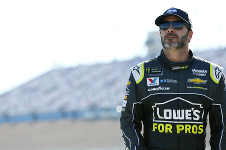 September 14, 2018 - Las Vegas, Nevada, USA: Jimmie Johnson (48) hangs out on pit road before qualifying for the South Point 400 at Las Vegas Motor Speedway in Las Vegas, Nevada. Editorial