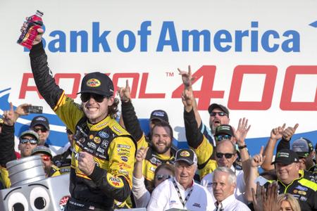 September 30, 2018 - Concord, North Carolina, USA: Ryan Blaney (12) wins the Bank of America ROVAL 400 at Charlotte Motor Speedway in Concord, North Carolina.