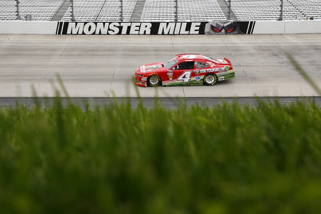 October 06, 2018 - Dover, Delaware, USA: Ross Chastain (4) races during the Bar Harbor 200 at Dover International Speedway in Dover, Delaware.