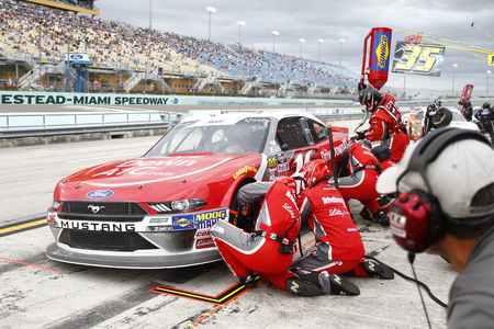 November 17, 2018 - Homestead, Florida, USA: Ryan Reed (16) comes down pit road for service during the Ford 300 at Homestead-Miami Speedway in Homestead, Florida. Editorial
