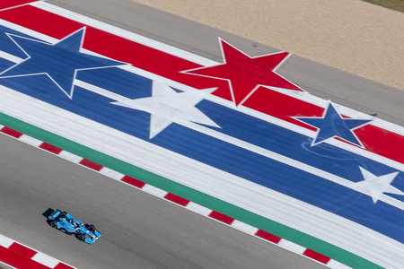 MAX CHILTON (59) of England goes through the turns during practice for the IndyCar Spring Test at Circuit Of The Americas in Austin, Texas.