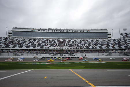 February 10, 2019 - Daytona Beach, Florida, USA: The Monster Energy Nascar Cup Series takes to the track for the Advance Auto Parts Clash at Daytona International Speedway in Daytona Beach, Florida.