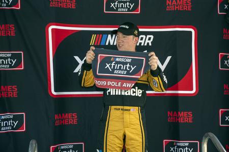 February 16, 2019 - Daytona Beach, Florida, USA: Tyler Reddick (2) wins the pole for the NASCAR Racing Experience 300 at Daytona International Speedway in Daytona Beach, Florida. 報道画像