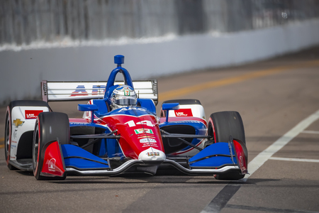 March 09, 2019 - St. Petersburg, Florida, USA: TONY KANAAN (14) of Brazil qualifes for the Firestone Grand Prix of St. Petersburg at The Temporary Waterfront Street Course in St. Petersburg Florida.