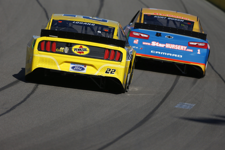 March 03, 2019 - Las Vegas, Nevada, USA: Joey Logano (22) races down the front stretch for the Pennzoil 400 at Las Vegas Motor Speedway in Las Vegas, Nevada. Sajtókép