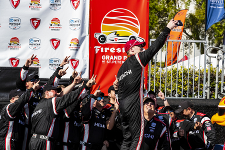 March 10, 2019 - St. Petersburg, Florida, USA: JOSEF NEWGARDEN (2) of the United States wins the Firestone Grand Prix of St. Petersburg at the Firestone Grand Prix of St. Petersburg at The Temporary Waterfront Street Course in St. Petersburg, Florida.