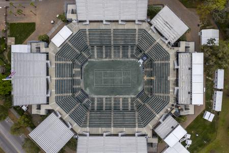 March 16, 2019 - Daniel Island, South Carolina, USA: Aerial views of the Volvo Car Open Stadium in Daniel Island, SC.