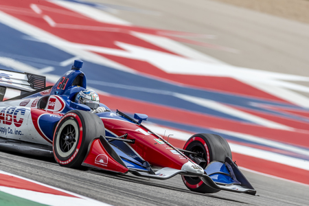 March 22, 2019 - Austin, Texas, USA: TONY KANAAN (14) of Brazil goes through the turns during practice for the INDYCAR Classic at Circuit Of The Americas in Austin, Texas.