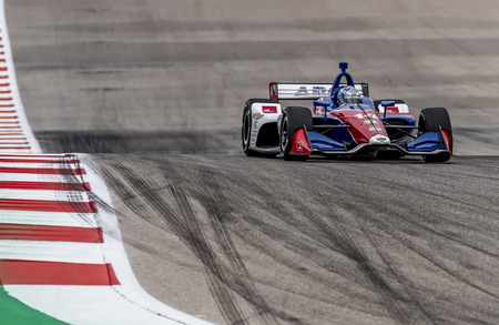 March 23, 2019 - Austin, Texas, USA: TONY KANAAN (14) of Brazil goes through the turns during practice for the INDYCAR Classic at Circuit Of The Americas in Austin, Texas.
