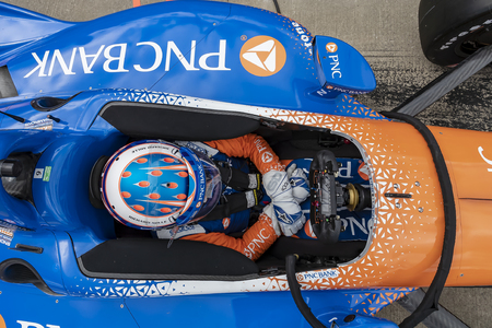 April 05, 2019 - Birmingham, Alabama, USA: SCOTT DIXON (9) of New Zealand prepares for practice for the Honda Indy Grand Prix of Alabama at Barber Motorsports Park in Birmingham, Alabama.
