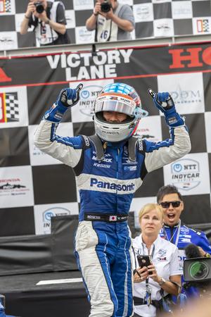 April 07, 2019 - Birmingham, Alabama, USA: TAKUMA SATO (30) of Japan wins the Honda Indy Grand Prix of Alabama at the Honda Indy Grand Prix of Alabama at Barber Motorsports Park in Birmingham, Alabama.