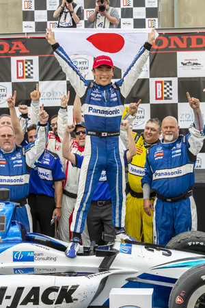 April 07, 2019 - Birmingham, Alabama, USA: TAKUMA SATO (30) of Japan wins the Honda Indy Grand Prix of Alabama at the Honda Indy Grand Prix of Alabama at Barber Motorsports Park in Birmingham, Alabama.