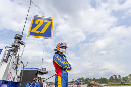 April 06, 2019 - Birmingham, Alabama, USA: ALEXANDER ROSSI (27) of the United States prepares to qualify for the Honda Indy Grand Prix of Alabama at Barber Motorsports Park in Birmingham, Alabama.