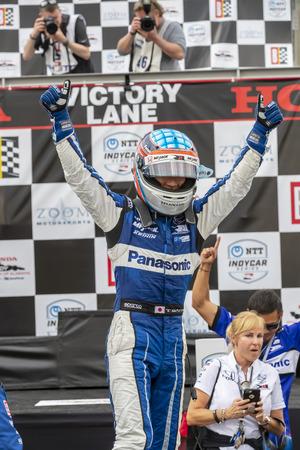 April 07, 2019 - Birmingham, Alabama, USA: TAKUMA SATO (30) of Japan wins the Honda Indy Grand Prix of Alabama at the Honda Indy Grand Prix of Alabama at Barber Motorsports Park in Birmingham, Alabama