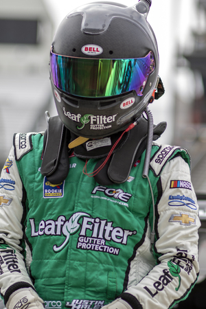 April 12, 2019 - Richmond, Virginia, USA: Justin Haley (11) takes to the track to practice for the ToyotaCare 250 at Richmond Raceway in Richmond, Virginia.