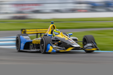 May 10, 2019 - Indianapolis, Indiana, USA: ZACH VEACH (26) of the United States goes through the turns during practice for the IndyCar Grand Prix of Indianapolis at Indianapolis Motor Speedway in Indianapolis, Indiana.