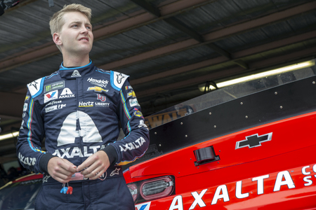William Byron (24) takes to the track  to practice for the Gander RV 400 at Dover International Speedway in Dover, Delaware.