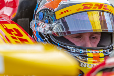 May 17, 2019 - Indianapolis, Indiana, USA: RYAN HUNTER-REAY (28) of the United States prepares to practice for the Indianapolis 500 at Indianapolis Motor Speedway in Indianapolis, Indiana.