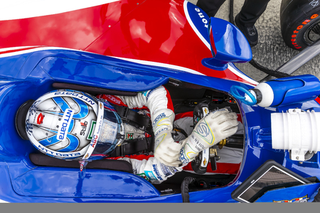 May 17, 2019 - Indianapolis, Indiana, USA: TONY KANAAN (14) of Brazil prepares to practice for the Indianapolis 500 at Indianapolis Motor Speedway in Indianapolis, Indiana. Redakční