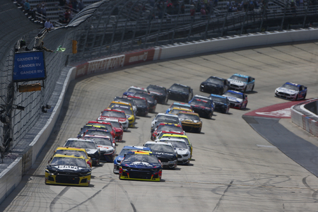 The Monster Energy NASCAR Cup Series teams take to the track for the Gander RV 400 at Dover International Speedway in Dover, Delaware. Editorial