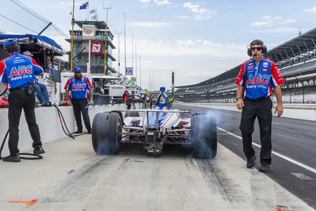 May 17, 2019 - Indianapolis, Indiana, USA: TONY KANAAN (14) of Brazil prepares to practice for the Indianapolis 500 at Indianapolis Motor Speedway in Indianapolis, Indiana. Publikacyjne
