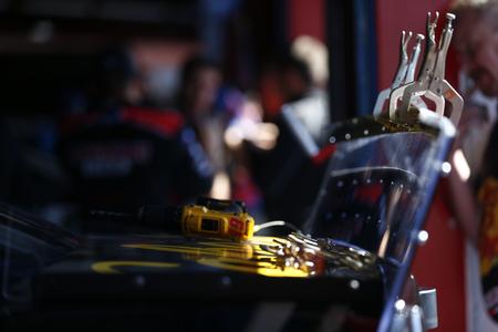 April 26, 2019 - Talladega, Alabama, USA: Martin Truex Jr. (19) gets ready to practice for the GEICO 500 at Talladega Superspeedway in Talladega, Alabama.