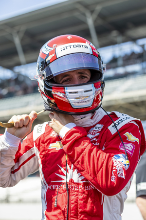 May 18, 2019 - Indianapolis, Indiana, USA: ED JONES (63) of the United Arab Emirates prepares to qualify for the Indianapolis 500 at Indianapolis Motor Speedway in Indianapolis, Indiana. 新聞圖片
