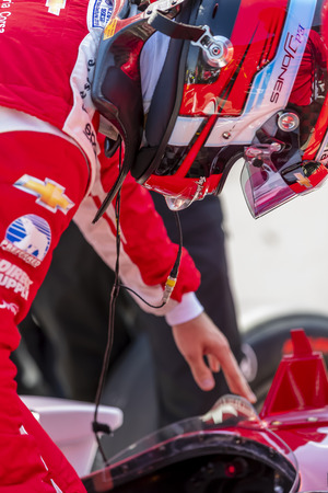 May 18, 2019 - Indianapolis, Indiana, USA: ED JONES (63) of the United Arab Emirates prepares to qualify for the Indianapolis 500 at Indianapolis Motor Speedway in Indianapolis, Indiana. Editorial