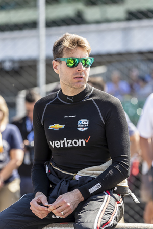 May 18, 2019 - Indianapolis, Indiana, USA: WILL POWER (12) of Australia prepares to qualify for the Indianapolis 500 at Indianapolis Motor Speedway in Indianapolis, Indiana. 에디토리얼
