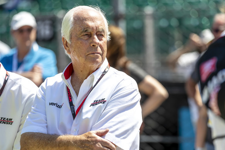 May 18, 2019 - Indianapolis, Indiana, USA: IndyCar Team Owner, Roger Penske, watches as his teams prepare to qualify for the Indianapolis 500 at Indianapolis Motor Speedway in Indianapolis, Indiana.