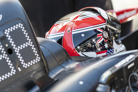 May 18, 2019 - Indianapolis, Indiana, USA: WILL POWER (12) of Australia prepares to qualify for the Indianapolis 500 at Indianapolis Motor Speedway in Indianapolis, Indiana. Editorial