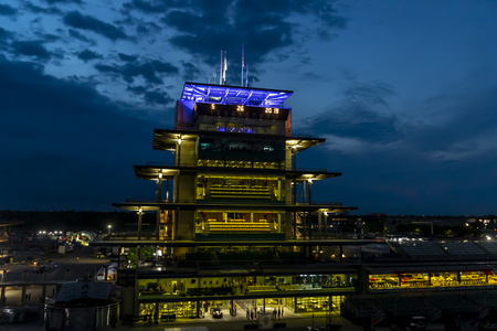 May 26, 2019 - Indianapolis, Indiana, USA: The sun rises on the Indianapolis Motor Speedway as it plays host to the Indianapolis 500 in Indianapolis, Indiana. Editorial