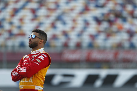 May 23, 2019 - Concord, North Carolina, USA: Darrell Wallace, Jr (43) gets ready to qualify for the Coca-Cola 600 at Charlotte Motor Speedway in Concord, North Carolina.