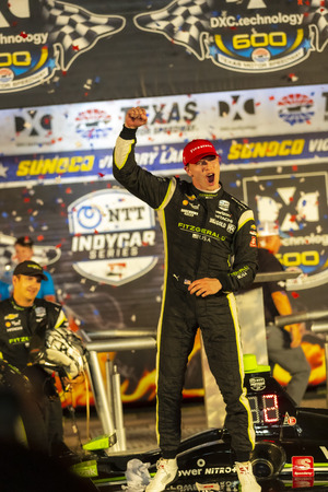 JOSEF NEWGARDEN (2) of the United States wins the DXC Technology 600 at the DXC Technology 600 at Texas Motor Speedway in Ft Worth, Texas.