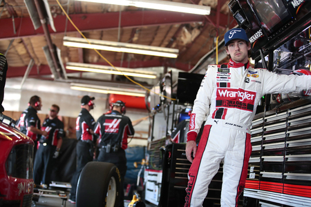 June 07, 2019 - Brooklyn, Michigan, USA: Ryan Blaney (12) gets ready to practice for the FireKeepers Casino 400 at Michigan International Speedway in Brooklyn, Michigan.