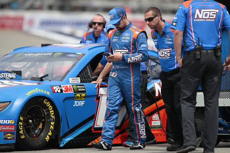 June 08, 2019 - Brooklyn, Michigan, USA: Ricky Stenhouse, Jr (17) gets ready to qualify for the FireKeepers Casino 400 at Michigan International Speedway in Brooklyn, Michigan.
