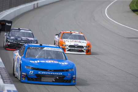 June 08, 2019 - Brooklyn, Michigan, USA: John Hunter Nemechek (23) battles for position for the LTi Printing 250 at Michigan International Speedway in Brooklyn, Michigan.