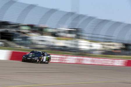 July 26, 2019 - Newton, Iowa, USA: Riley Herbst (18) takes to the track to practice for the U.S. Cellular 250 at Iowa Speedway in Newton, Iowa. Editorial