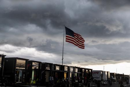 August 18, 2019 - Long Pond, Pennsylvania, USA: Pocono Raceway plays host to the rain shortened ABC Supply 500 in Long Pond, Pennsylvania. Editorial