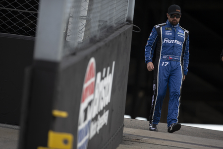 August 17, 2019 - Bristol, Tennessee, USA: Ricky Stenhouse, Jr (17) gets ready for the Bass Pro Shops NRA Night Race at Bristol Motor Speedway in Bristol, Tennessee. Редакционное