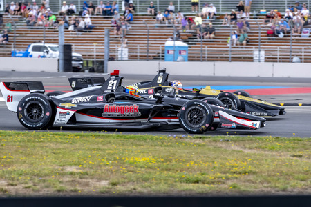 August 30, 2019 - Portland, Oregon, USA: SPENCER PIGOT (21) of the United States  practices for the Grand Prix of Portland at Portland International Raceway in Portland, Oregon.