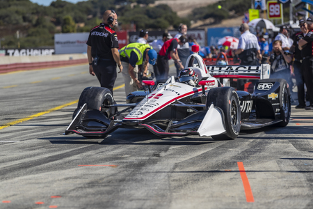 September 20, 2019 - Salinas, California, USA: JOSEF NEWGARDEN (2) of the United States  prepares to practice for the Firestone Grand Prix of Monterey at Weathertech Raceway Laguna Seca in Salinas, California.