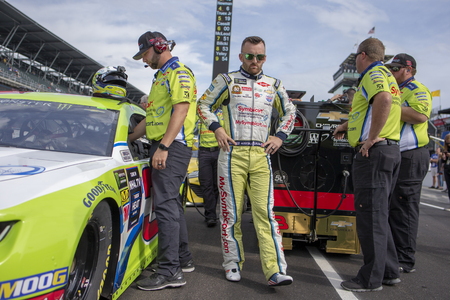 September 08, 2019 - Indianapolis, Indiana , USA: Austin Dillon (3) gets ready to qualify for the Big Machine Vodka 400 at the Brickyard at Indianapolis Motor Speedway in Indianapolis, Indiana .