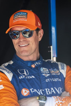 September 20, 2019 - Salinas, California, USA: SCOTT DIXON (9) of Auckland, New Zealand  prepares to practice for the Firestone Grand Prix of Monterey at Weathertech Raceway Laguna Seca in Salinas, California.